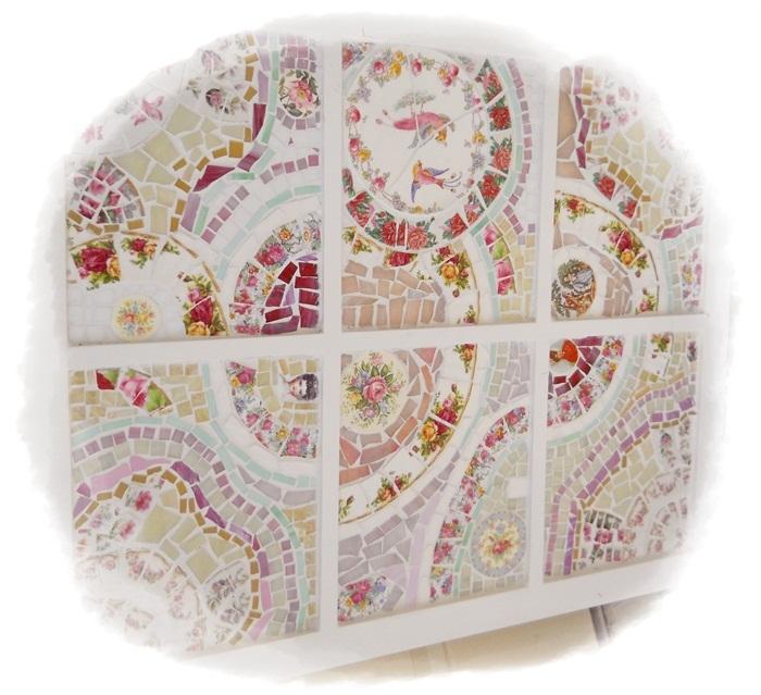 Myeuropeantouch Design: Handmade Cut, Broken China Plate