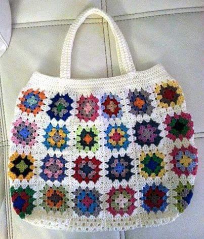 Patrón #1345: Bolso a Crochet