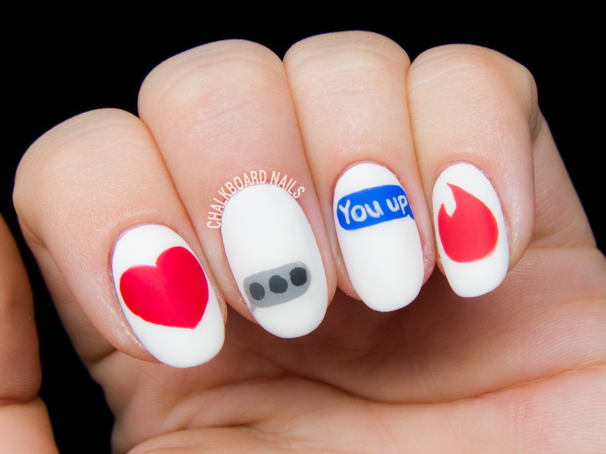 Modern Romance Nail Art | Chalkboard Nails | Nail Art Blog