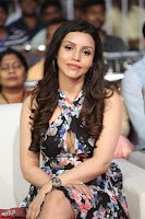 Kyra Dutta in a Deep neck Small Dress at Shamanthakamani pre release function ~  Exclusive 017.JPG