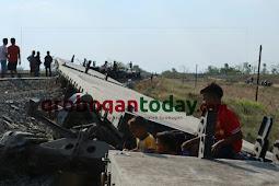 Delapan Gerbong Kereta Barang Anjlok di Grobogan