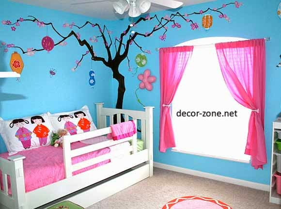 nursery wallpaper, curtains, accessories, furniture, decorating ideas