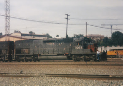 Southern Pacific SD40T-2 #8244 at Albina Yard in Portland, Oregon, on July 13, 1997