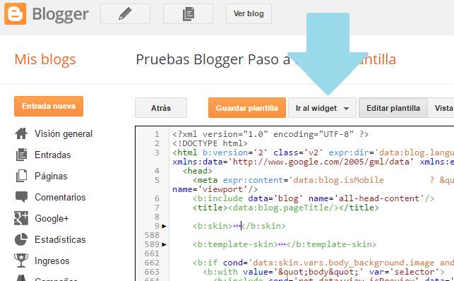"""Como quitar """"Con la tecnologia de Blogger"""""""