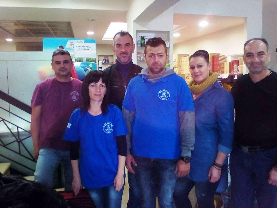 Προσφορά του ΜΕΣ Αγίου Θωμά στο Κοινωνικο Παντοπωλείο Λάρισας για τους πλημμυροπαθείς της Δυτικής Αττικής