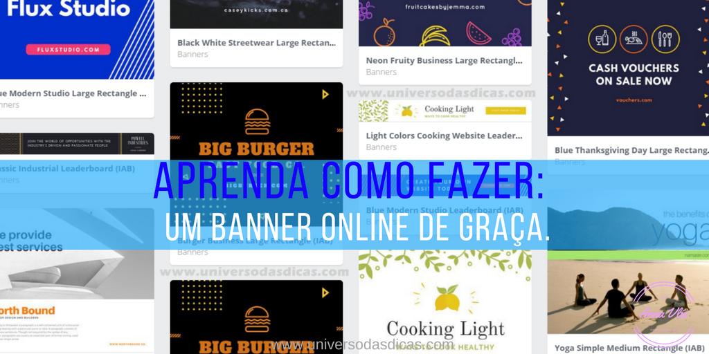 Fazer banner de graça, online e fácil