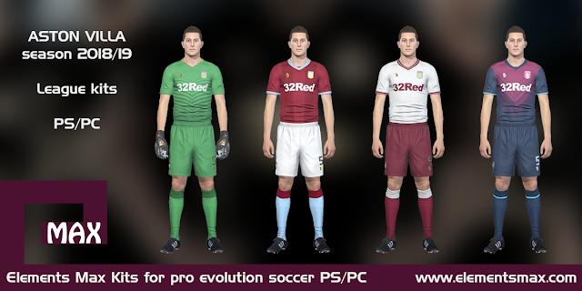 Aston Villa PES Kits 2018/19