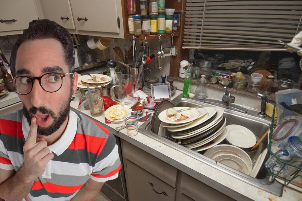 der postillon verzweifelter student kann seit tagen nicht abwaschen weil sp le voll mit. Black Bedroom Furniture Sets. Home Design Ideas