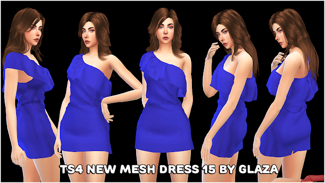 TS4 NEW MESH DRESS 15 BY GLAZA