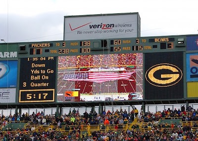 green bay packers scoreboard