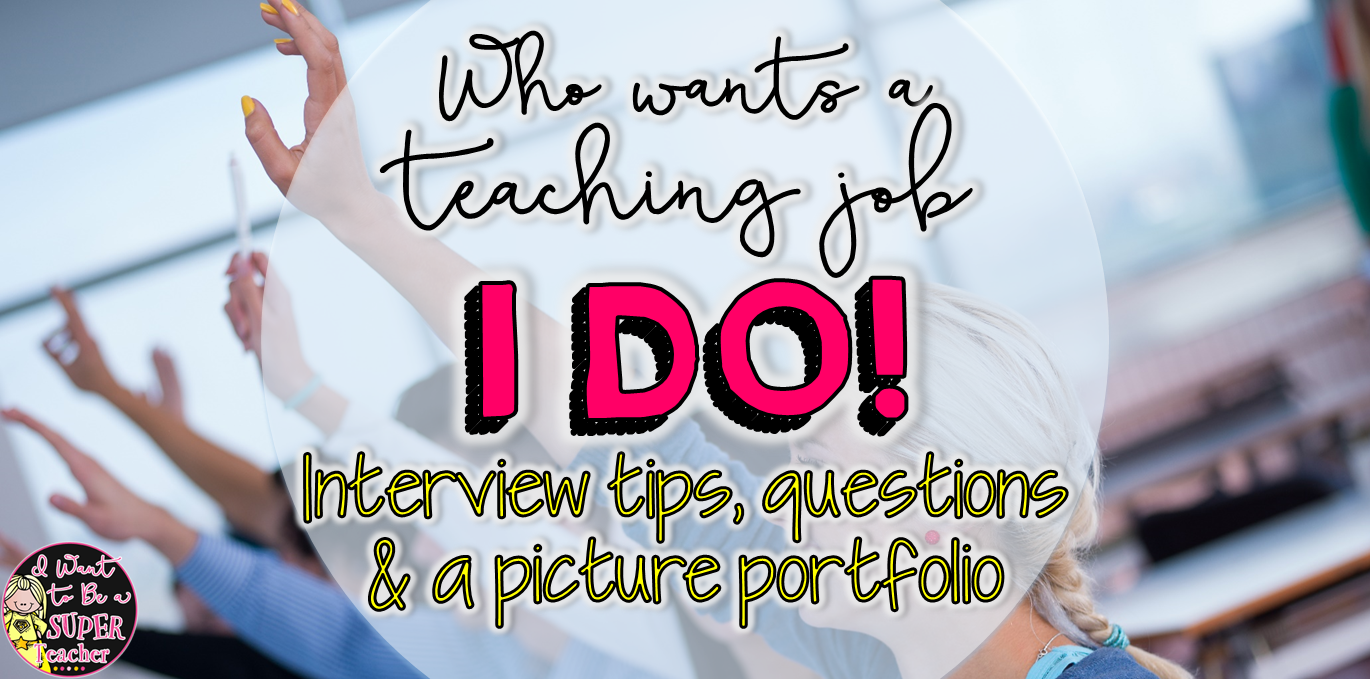 Great for teachers looking for a job!  Includes information about getting an elementary teaching position with Interview questions, examples of notes, and even a picture portfolio.  Click to learn more