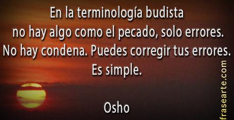 Frases de Osho sobre el pecado