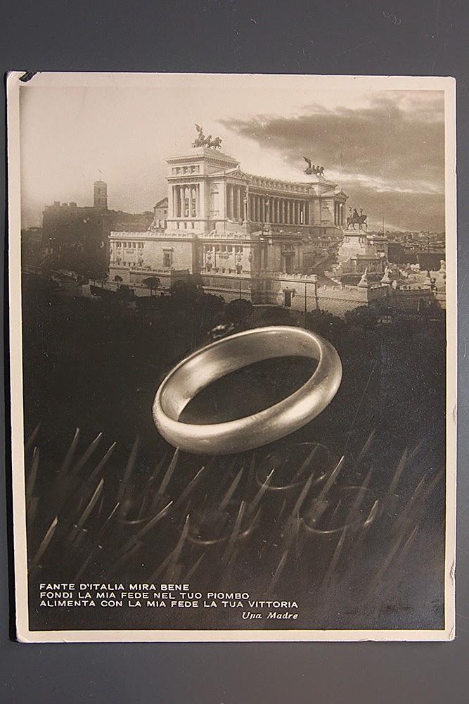 18 Dicembre 1935 - Oro alla patria anello ring fascismo fascio ricevut partito nazionale fascista