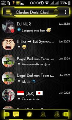 BBM Mod Droid Chat Yellow Theme V2.13.1.13 Apk Terbaru 2016