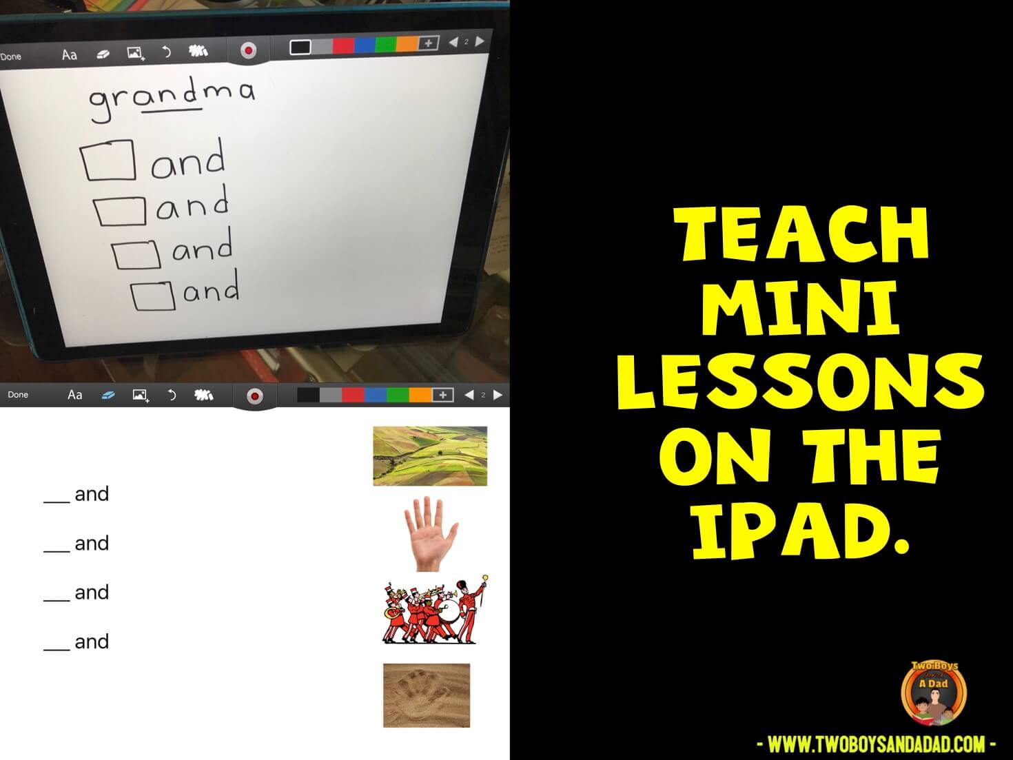 using iPad to teach mini-lessons during guided reading