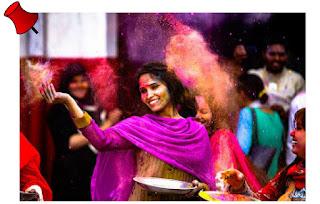 mulher indiana festas das cores