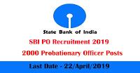 SBI PO Recruitment 2019