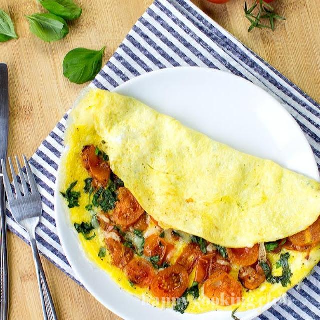 Easy Tomato Omelette