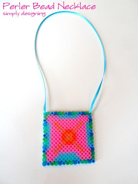 Perler Beads Necklace (aka Hot Beads) #summerofjoann #spon @JoAnn