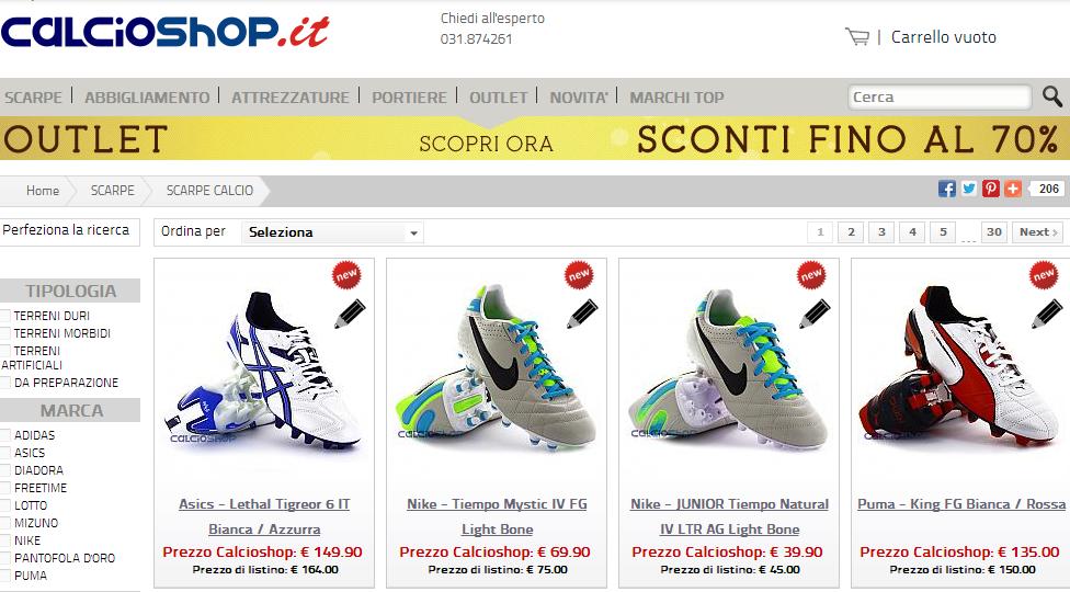 watch 52fd8 ee5fa Migliori siti per acquistare scarpe da calcio online ...
