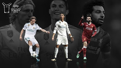 Modrić, Ronaldo and Salah up for Player of the Year 2018