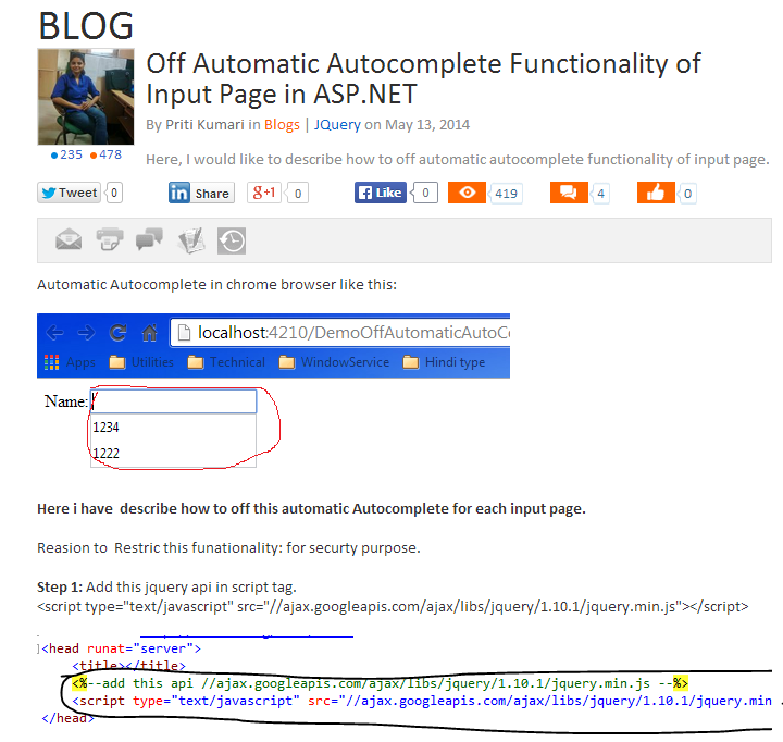 Autocomplete Off Jquery