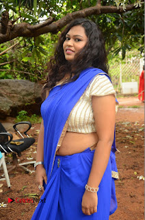 Actress Maggi Meghna Pictures in Saree at Lovers Park Movie Opening  0044