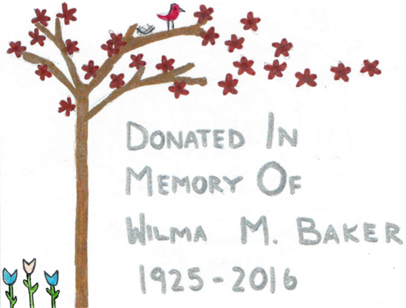 Wilma Baker Bookplate Design