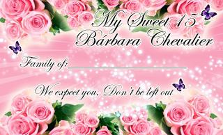 Tarjeta de Confirmación Novedosa para 15 Años rosa con rosas y mariposas