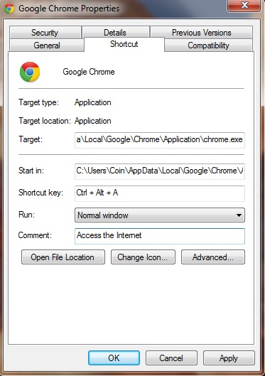 Set Shortcut Key For Any Program