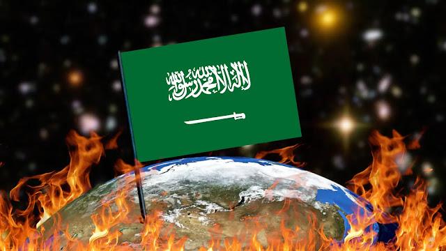 Queimando Bandeiras - Arábia Saudita