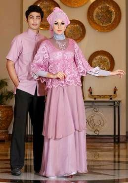 Baju muslim couple elegan nan trendy