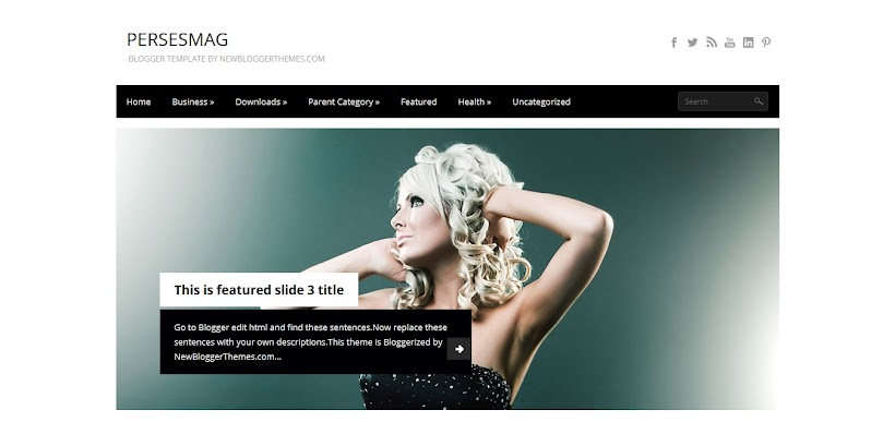 PersesMag Free Blogger Template
