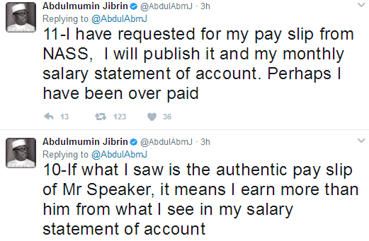 If what I saw is the authentic pay slip of Mr Speaker, it means I ...