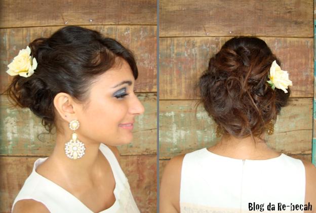 Hair Style Da: Blog Da Reh: Video: Hairstyle Coque Casamento