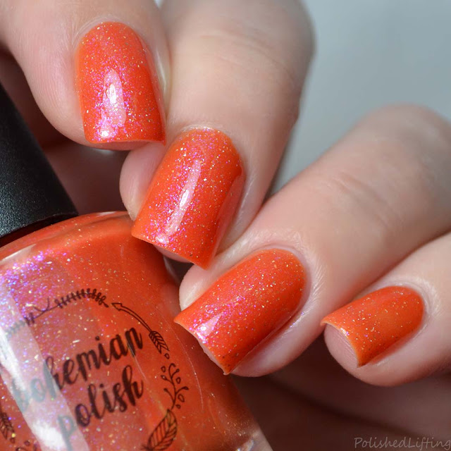 orange to yellow thermal color changing nail polish