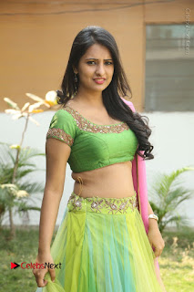 Actress Nikitha Bisht Stills in Lehenga Choli at Pochampally Ikat Art Mela Launch  0234.JPG