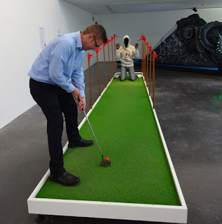 Playing The Turkey Shoot Galactico by John Akomfrah at the New Art Exchange in Nottingham last summer