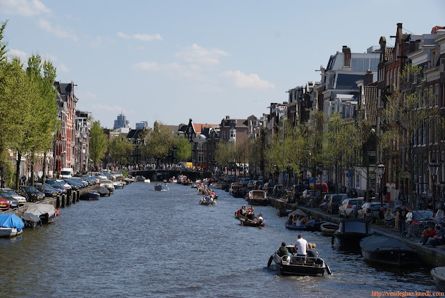 Amszterdam gracht hajó nyár