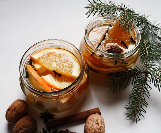 Last Minute Geschenk Weihnachten Raumduft DIY Weihnachtlich Blogger Orange-Zimt