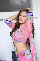 Angela Krislinzki Rogue Movie Fame Telugu Actress in Saree Backless Choli 039.JPG