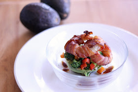 How to make Whole30 Bacon Wrapped Onion Ring Avocados