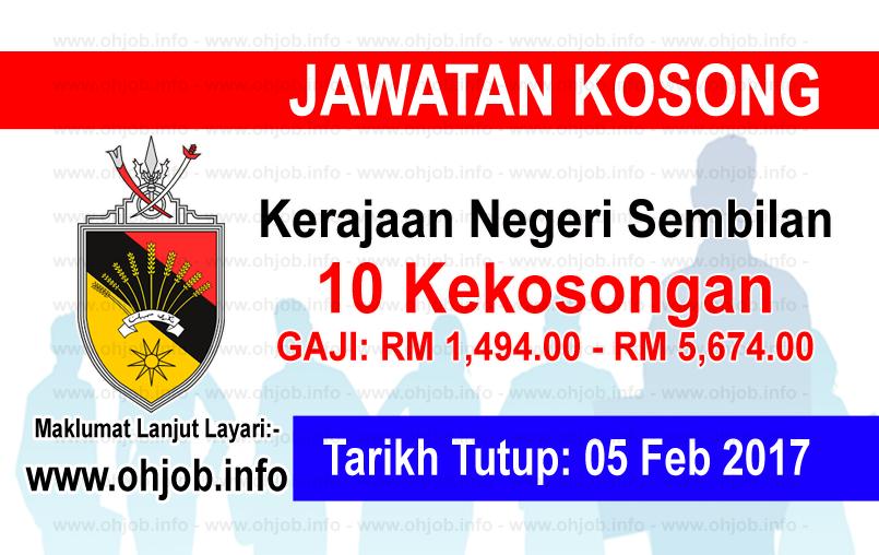 Jawatan Kerja Kosong Kerajaan Negeri Sembilan logo www.ohjob.info februari 2017