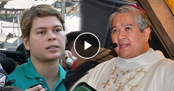 Watch: Mayor Sara Duterte, bumwelta at sinupalpal ng husto si Arcbishop Socrates Villegas