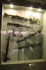 Guns in the museum's exhibition of the Vietnam War