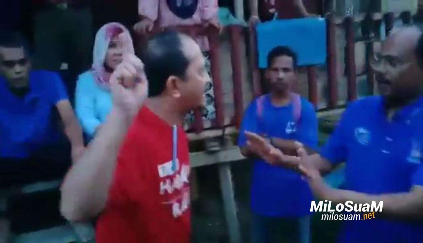 Wakil Rakyat PH bertengkar dengan penyokong BN