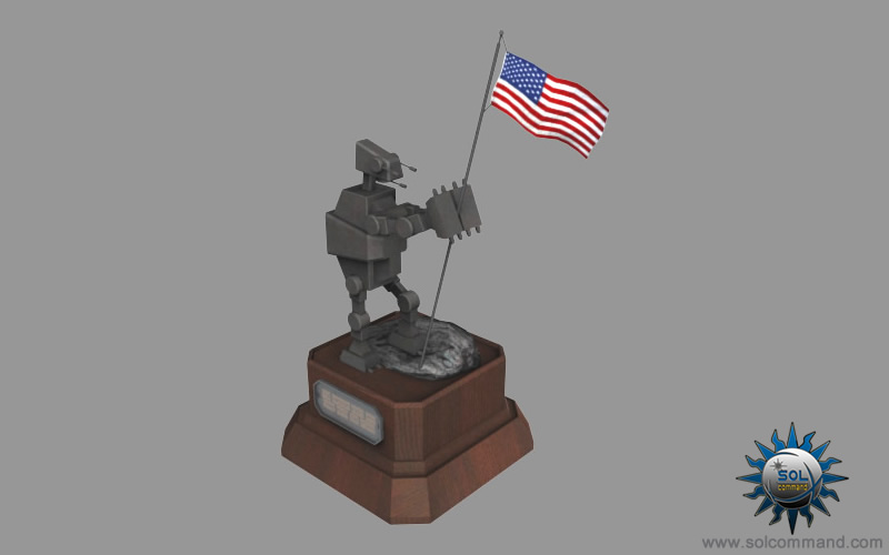 Imperial Walker AT Star War Hoth Vehicle Rebel battle sci fi terrain robot futuristic legs old republic ground assault combat hero statue america flag desk office 3d low poly star wars download free model mesh textured solcommand