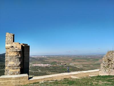 vistas desde alcazaba de reina extremadura