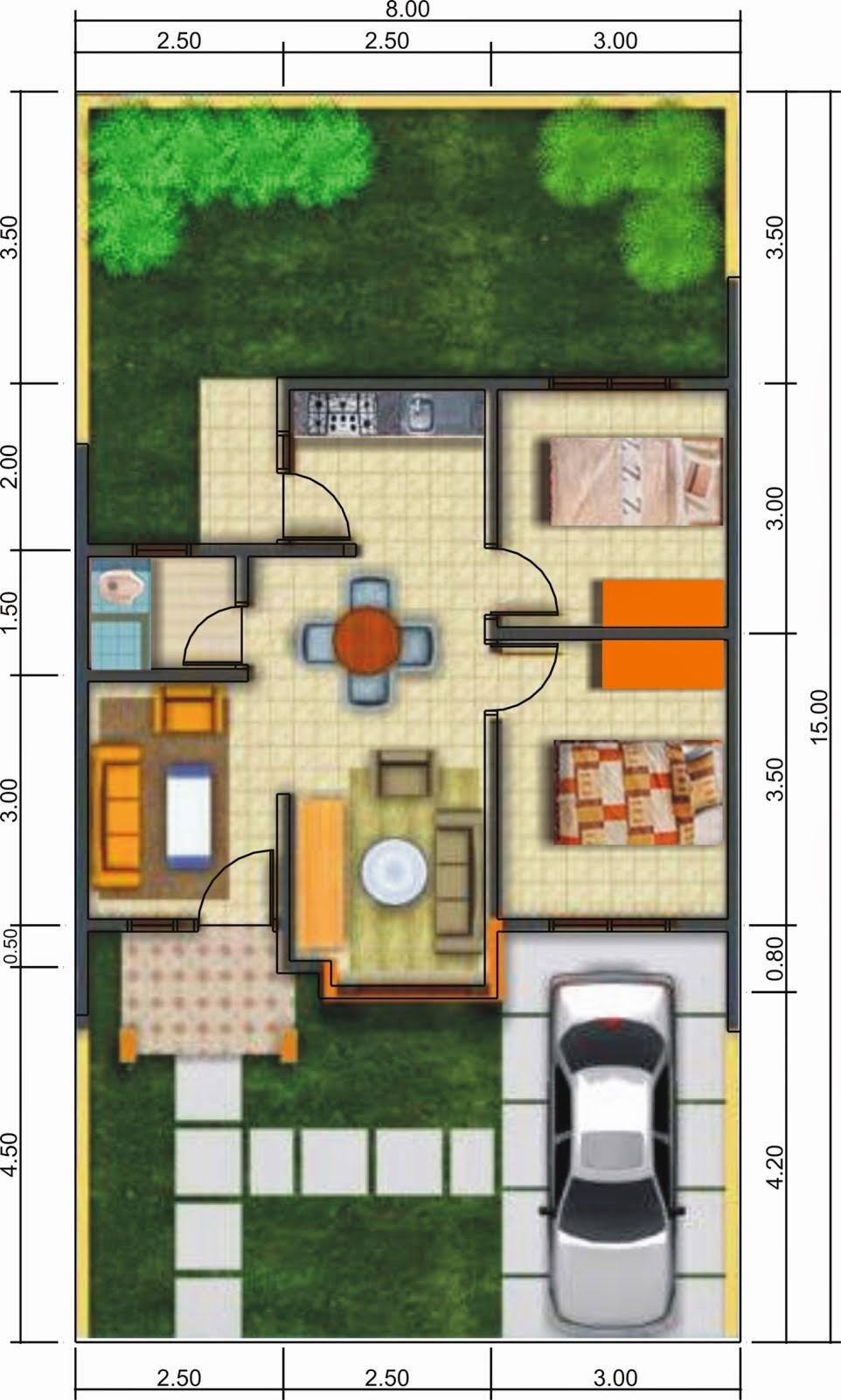 Denah Dan Sketsa Rumah Minimalis 1 Lantai Desain Rumah Minimalis
