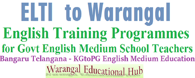 ELTI Warangal,English training programmes,Teachers
